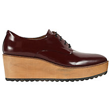 Buy Whistles Ko Wood Wedge Derby Shoes Online at johnlewis.com