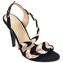 Buy John Lewis Divine Two Tone Sandals, Black Suede Online at johnlewis.com