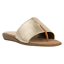 Buy Unisa Acho Slip On Sandals, Gold Online at johnlewis.com