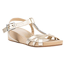 Buy Unisa Boili Wedge Heeled Sandals, Gold Online at johnlewis.com