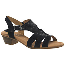 Buy Gabor Dylan Low Heel Sandals, Pacific Suede Online at johnlewis.com