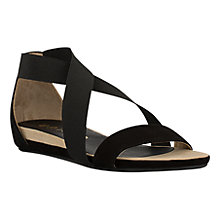 Buy Unisa Alena Cross Strap Sandals, Black Online at johnlewis.com