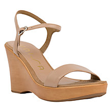 Buy Unisa Rita Wedge Heeled Sandals, Tawny Online at johnlewis.com