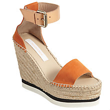 Buy See by Chloé Wedge Heeled Platform Sandals, Orange Online at johnlewis.com