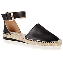 Buy See by Chloé Flatform Espadrilles, Black Leather Online at johnlewis.com