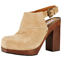 Buy See by Chloé Sling Back Block Heeled Clogs, Tan Online at johnlewis.com