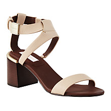Buy See by Chloé Block Heeled Sandals, Nude Online at johnlewis.com