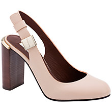 Buy See by Chloé Sling Back Block Heeled Court Shoes, Nude Leather Online at johnlewis.com