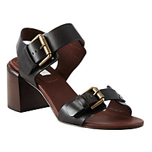 Buy See by Chloé Block Heeled Buckle Sandals, Black Online at johnlewis.com