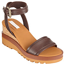 Buy See by Chloé Wedge Heeled Sandal, Brown Online at johnlewis.com