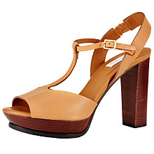 Buy See by Chloé Mary Jane Block Heeled Sandals, Cognac Online at johnlewis.com