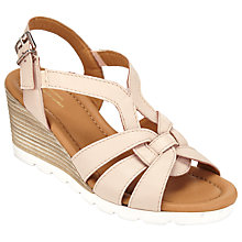 Buy John Lewis Designed for Comfort Keira Wedge Heeled Sandals, Natural Online at johnlewis.com