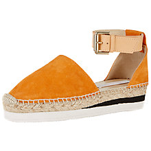 Buy See by Chloé Flatform Espadrilles, Orange Suede Online at johnlewis.com