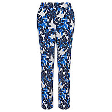 Buy Marella Print Trousers, Cornflower Blue Online at johnlewis.com
