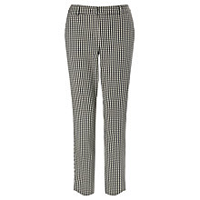 Buy Marella Janzir Check Print Trousers, Black Online at johnlewis.com