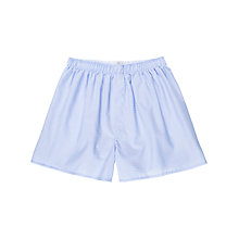 Buy Sunspel Small Dot Woven Cotton Boxers, Blue Online at johnlewis.com