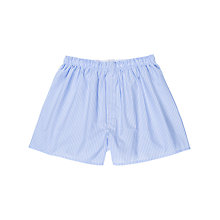 Buy Sunspel Deck Stripe Woven Cotton Boxers, Blue Online at johnlewis.com