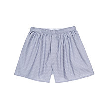 Buy Sunspel Chambray Dot Woven Cotton Boxers, Blue Online at johnlewis.com
