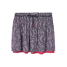 Buy Mango Kids Girls' Paisley Print Skirt, Grey/Pink Online at johnlewis.com