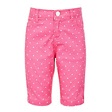Buy John Lewis Girls' Knee Length Spot Print Shorts Online at johnlewis.com