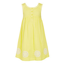 Buy John Lewis Girls' Daisy Applique Dress, Yellow Online at johnlewis.com