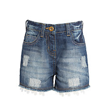 Buy John Lewis Girls' Denim Shorts, Blue Online at johnlewis.com