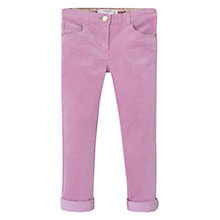 Buy Mango Kids Girls' Corduroy Slim Fit Trousers, Purple Online at johnlewis.com