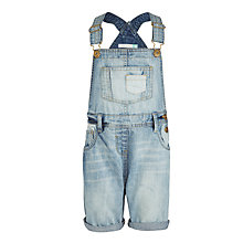 Buy John Lewis Girls' Denim Bib shorts, Blue Online at johnlewis.com