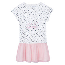 Buy Mango Kids Girls' Tulle Skirt Dress, White/Pink Online at johnlewis.com
