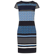 Buy Betty Barclay Cap Sleeved Printed Dress, Blue/Multi Online at johnlewis.com