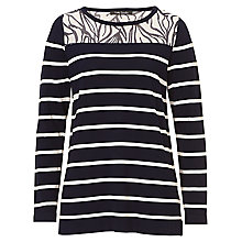 Buy Betty Barclay Graphic Striped Jumper, Dark Blue/Cream Online at johnlewis.com