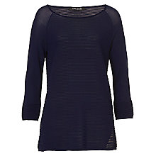 Buy Betty Barclay Long Sleeve Textured Top, Navy Online at johnlewis.com
