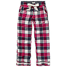 Buy Fat Face Buffalo Check Pyjama Bottoms, Poinsettia/Multi Online at johnlewis.com
