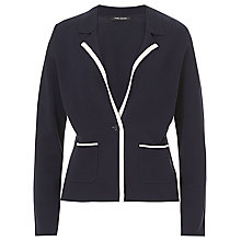 Buy Betty Barclay One Button Cardigan, Navy/White Online at johnlewis.com