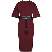 Buy Ted Baker Lemar Kimono Sleeve Belted Dress, Dark Red Online at johnlewis.com