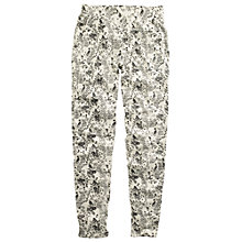 Buy Fat Face Bird Print Waffle Pant, Fresh Snow Online at johnlewis.com