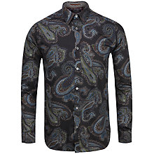 Buy Ted Baker Paisbro Paisley Print Long Sleeve Shirt, Navy Online at johnlewis.com