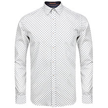 Buy Ted Baker Wenfarh Geo Print Shirt, White Online at johnlewis.com