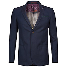 Buy Ted Baker Tyller Herringbone Jacket, Blue Online at johnlewis.com