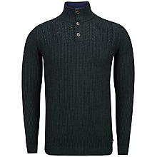 Buy Ted Baker Genwood Funnel Neck Jumper, Dark Green Online at johnlewis.com