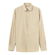 Buy Jigsaw Slim Cutaway Stretch Poplin Shirt, Stone Online at johnlewis.com