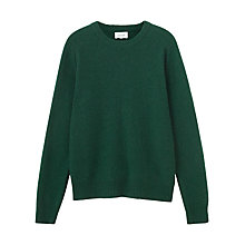 Buy Jigsaw Cashmere Crew Neck Jumper, Forest Online at johnlewis.com