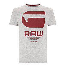 Buy G-Star Resap T-Shirt, Platinum Heather Online at johnlewis.com