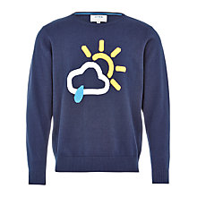 Buy HYMN Glastonbury Weather Sweater, Navy Online at johnlewis.com