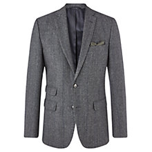 Buy Jigsaw Prince of Wales Wool Suit Jacket, Grey Online at johnlewis.com