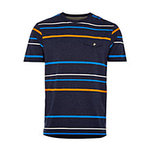 Buy HYMN Hillard Stripe Pocket T-Shirt, Navy Online at johnlewis.com