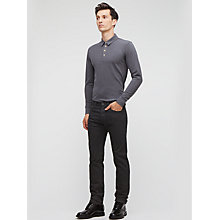 Buy Jigsaw Straight Fit Jeans, Black Online at johnlewis.com