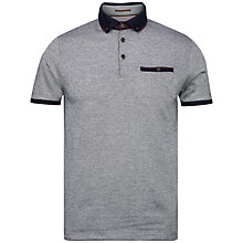 Buy Ted Baker Meyoman Contrast Collar Polo Shirt, Grey/Navy Online at johnlewis.com