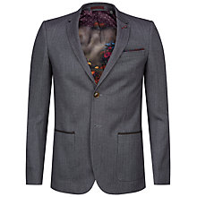 Buy Ted Baker Tyller Herringbone Jacket, Grey Online at johnlewis.com