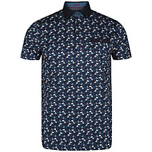 Buy Ted Baker Veetra Floral Print Polo Shirt, Dark Blue Online at johnlewis.com